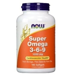 Omega 3-6-9 Now Foods, Super Omega 3-6-9, 180 perle