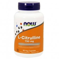 Citrullina Now Foods, L-Citrulline, 90 cps.