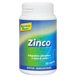 Zinco e Magnesio Natural Point, Zinco, 50 cps.
