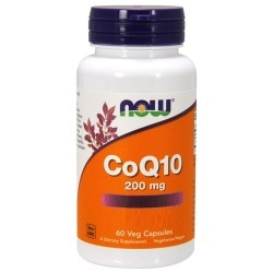 Coenzima Q10 Now Foods, CoQ10 200 mg, 60 cps.