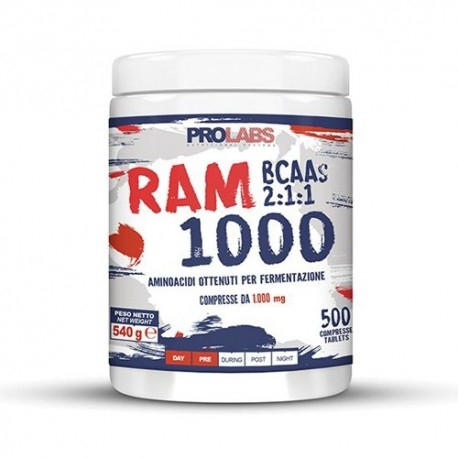 Aminoacidi Ramificati (Bcaa) Prolabs, Ram 1000, 500Cpr.