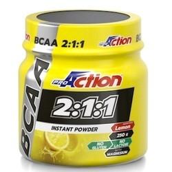 Aminoacidi Ramificati (Bcaa) Proaction, Bcaa 2:1:1 Instant Powder, 250 g.