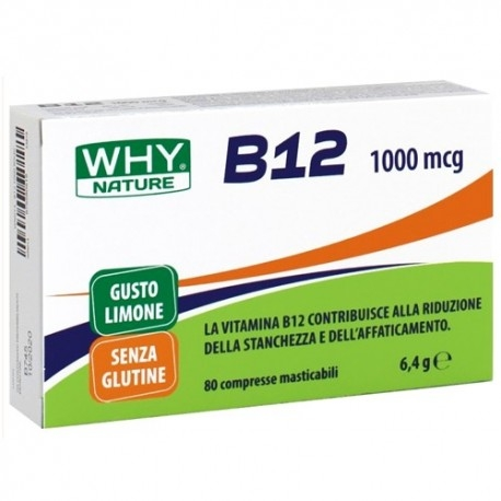 Vitamine e Minerali WHY Nature, B12, 80 cpr. masticabili