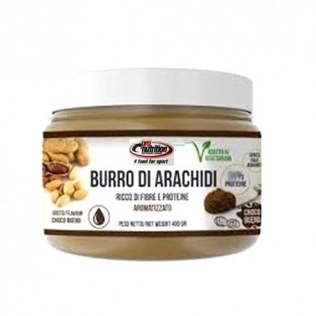 Creme alimentari Pro Nutrition, Burro di Arachidi Aromatizzato, 400 g.