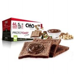 Pasti e Snack Proteici Ciao Carb, ProtoToast Cacao, (4 x 50 g)