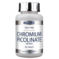 Cromo Scitec Nutrition, Chromium Picolinate, 100 cpr.